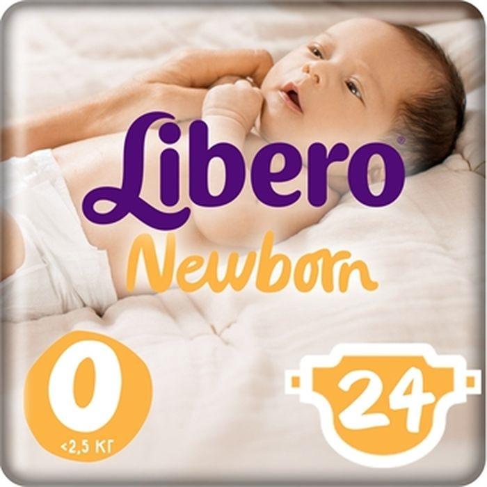 Libero подгузники Newborn Size 0 (<2,5 кг) 24 шт подгузники libero подгузники baby soft newborn 3 6 кг 94 шт