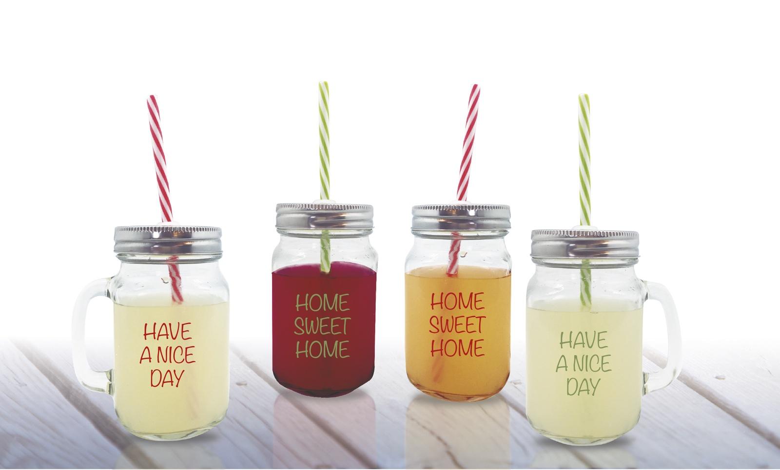 Бутылка Rich Line Home Decor Свежесть в лимонаде, прозрачный, серебристый