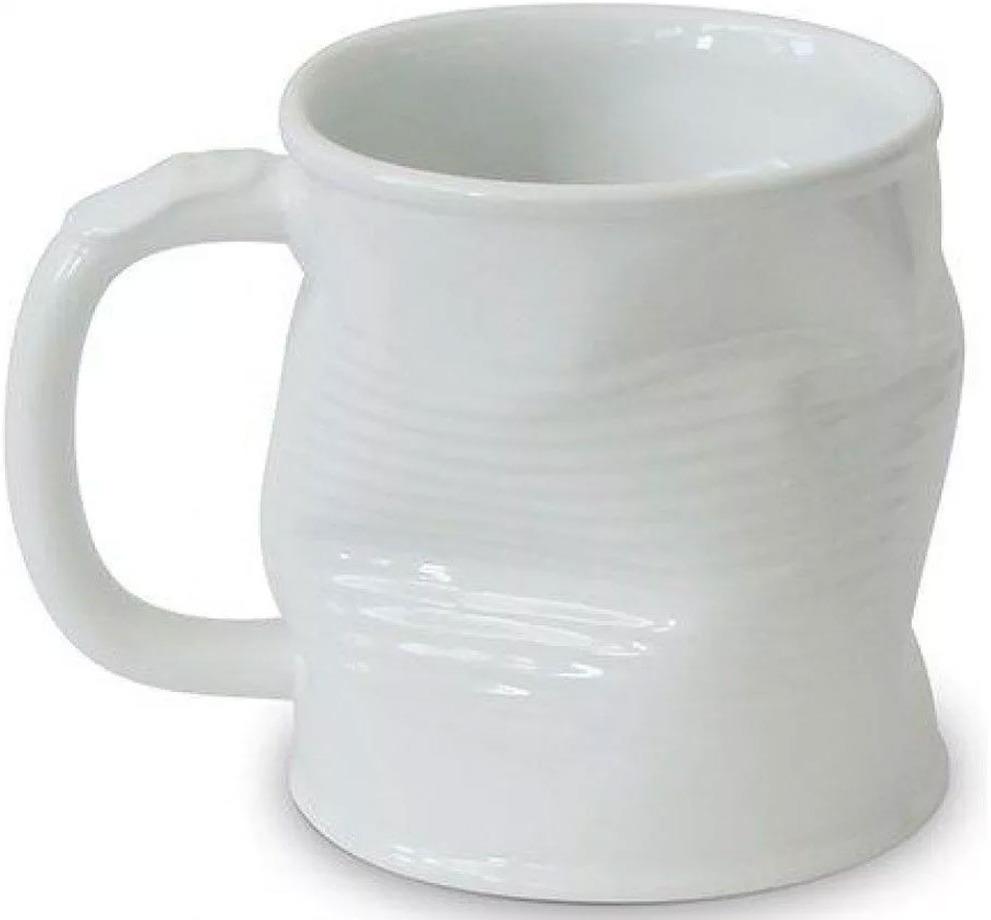 Кружка Ceraflame Мятая, белый, 320 мл