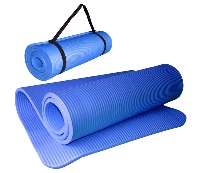 Коврик для йоги и фитнеса Hawk HKEM124-1.0-BLUE, синий цена