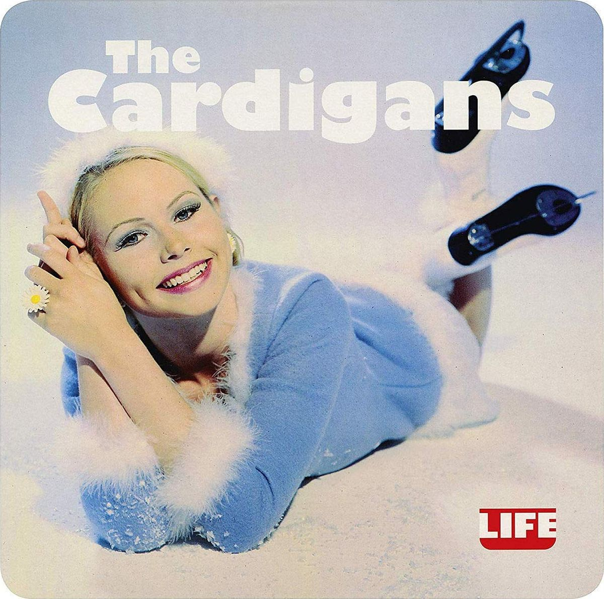 The Cardigans The Cardigans. Life (LP) white open front floral print cardigans