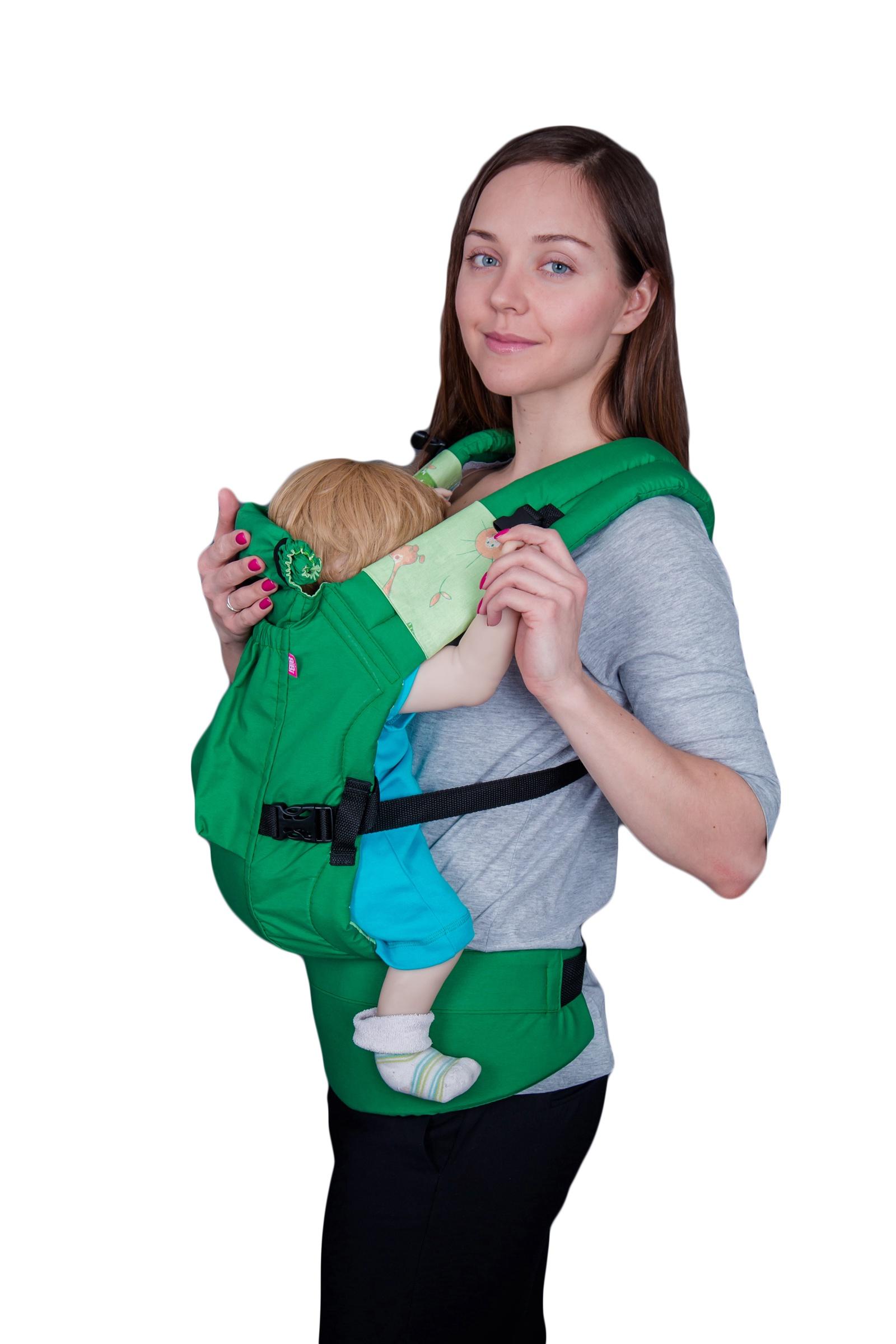 рюкзак переноска риббис bibi лён сиреневый Рюкзак-переноска Риббис Bibi Классик зеленый