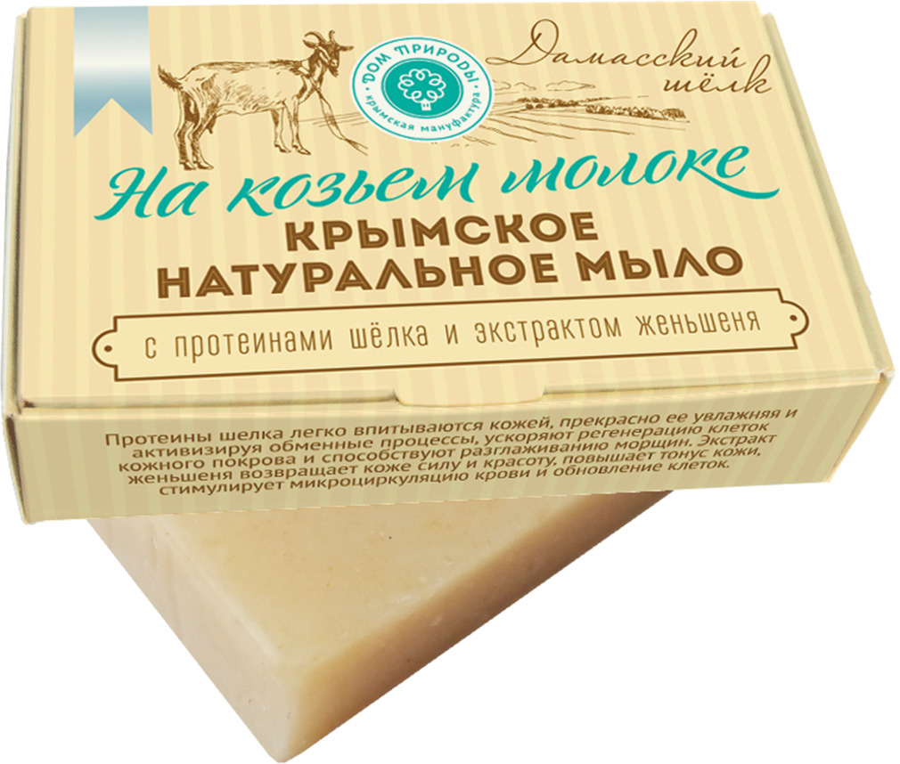 """Мыло туалетное Мануфактура Дом природы """"Дамасский шелк"""", на козьем молоке, 100 г"""