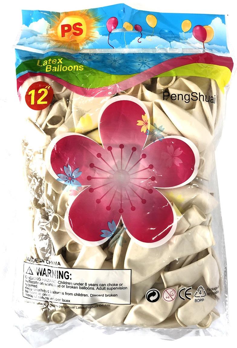 Набор воздушных шариков №1, 029-63-001, белый, 100 шт