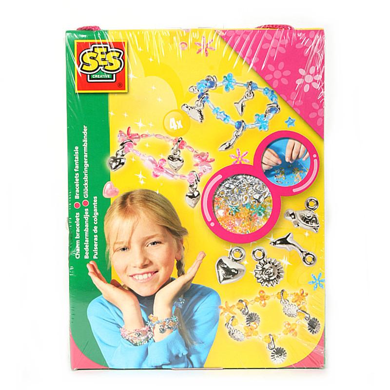 Развивающая игрушка SES creative Набор для творчества Браслеты с подвесками 01003 браслеты