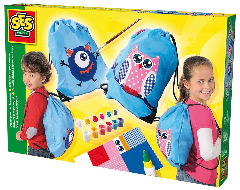 Развивающая игрушка SES creative Набор для творчества Укрась рюкзак 14874