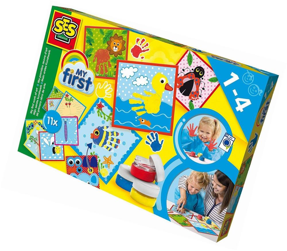 Развивающая игрушка SES creative Набор для творчества Первые раскраски 14419