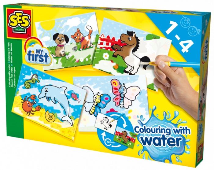Развивающая игрушка SES creative Набор для творчества Первые раскраски 14421