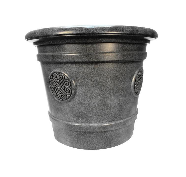 Горшок кашпо для цветов Medallion диаметр 50 см 40 литров, поддон, дренаж. Е81-8 Графит кашпо для цветов dominican garden лемон цвет светло серый диаметр 50 8 см