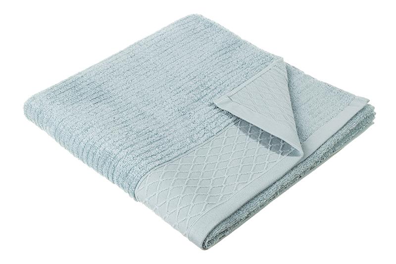 Полотенце банное El Casa Полоска, голубой полотенца william roberts полотенце банное aberdeen цвет queen shadow серо голубой 70х140 см