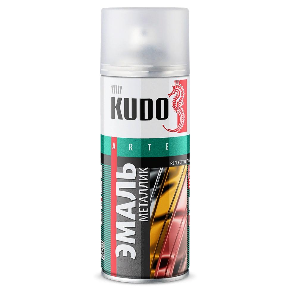 Аэрозольная краска KUDO металлик, 520мл, хром зеркальный краска для кожи kudo