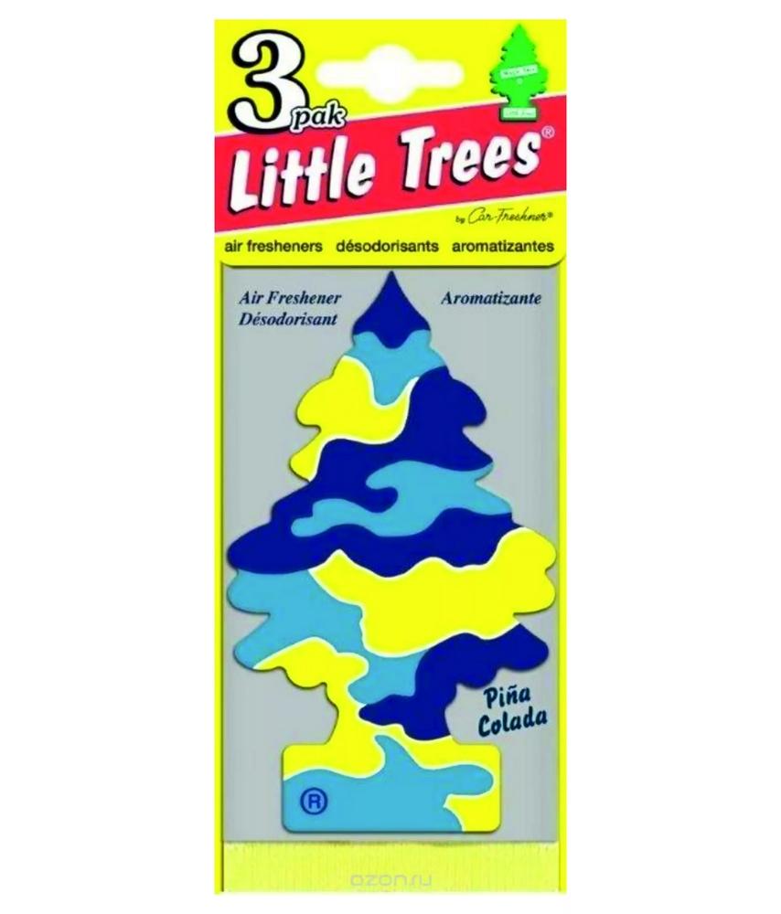 Автомобильный ароматизатор Car-Freshner Little Trees, пина колада, США автомобильный ароматизатор car freshner little trees зеленое яблоко сша