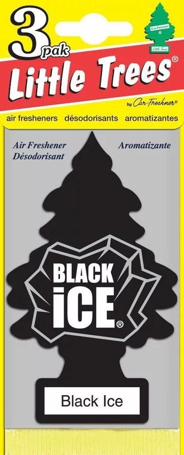 Автомобильный ароматизатор Car-Freshner Little Trees, черный лед, США ароматизатор car freshner mixed naturals лайм с лимоном