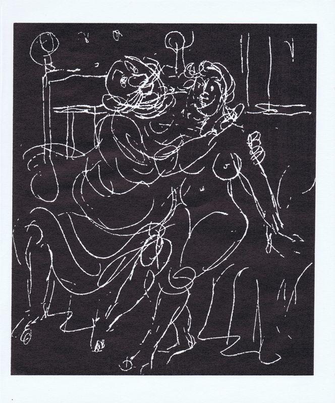 Приключения короля Позоля. Лист 14. Сухая игла по серебряной крошке. Франция, 1962 год