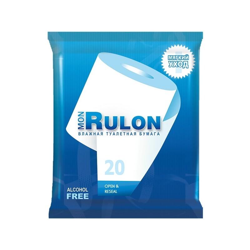 Влажная туалетная бумага Mon Rulon 630107