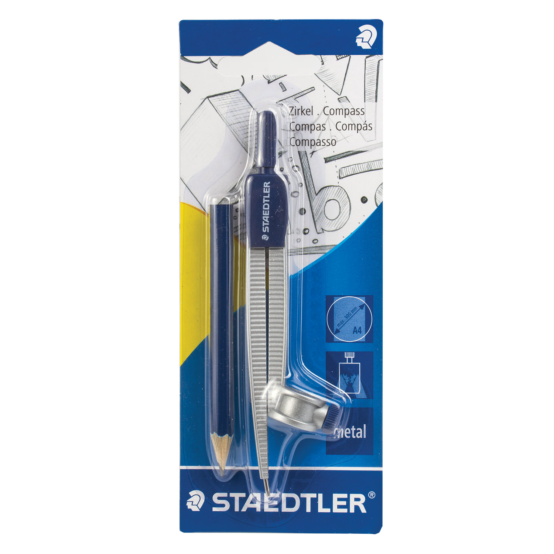 Циркуль STAEDTLER металлический, карандаш в комплекте