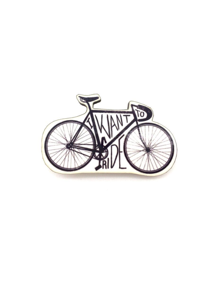 Брошь - Велосипед (Деревянный значок) цена
