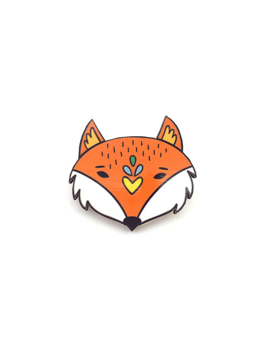 Брошь - Лиса (Деревянный значок) брошь друг лиса