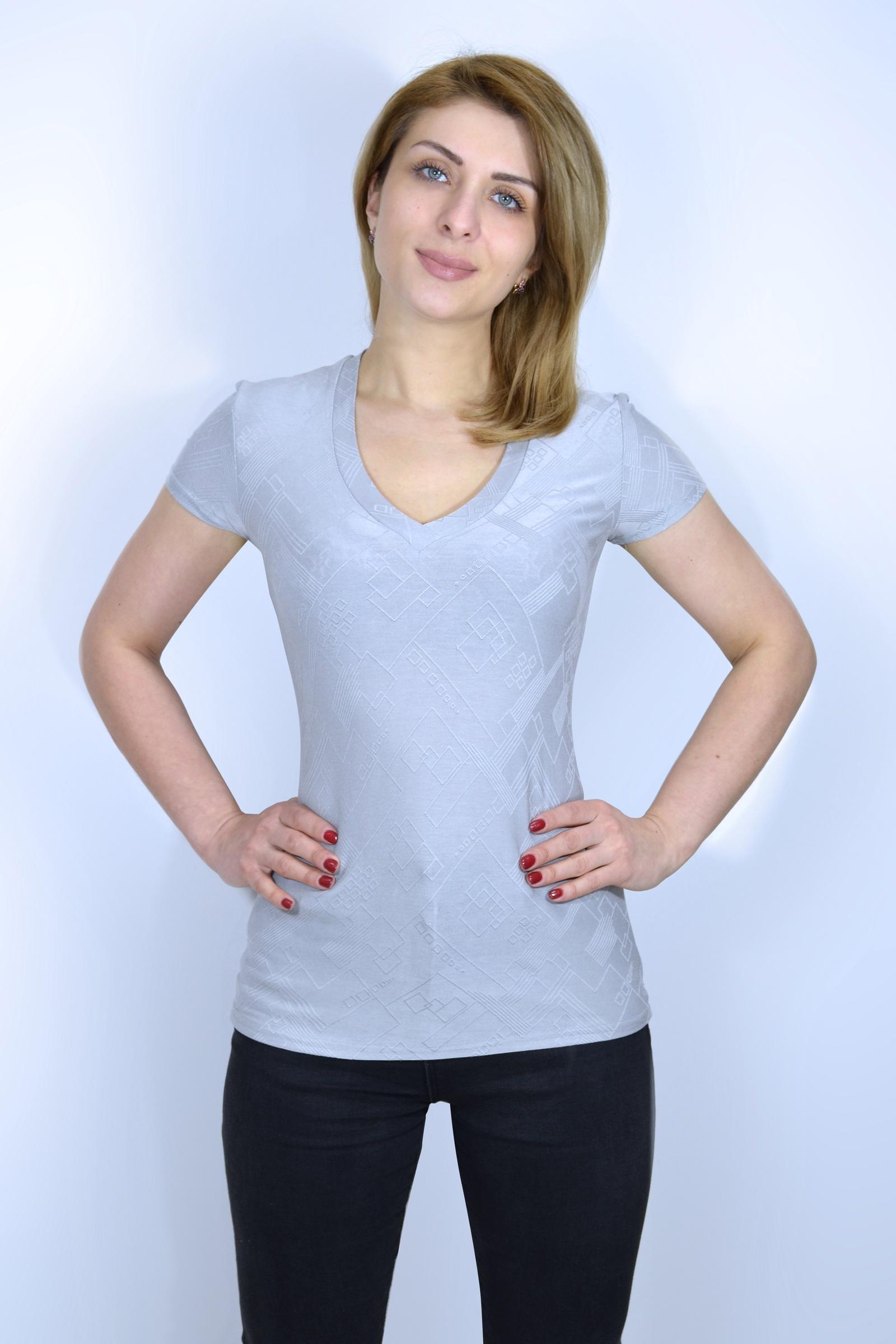 Футболка Галатея белая футболка с v образным вырезом женская