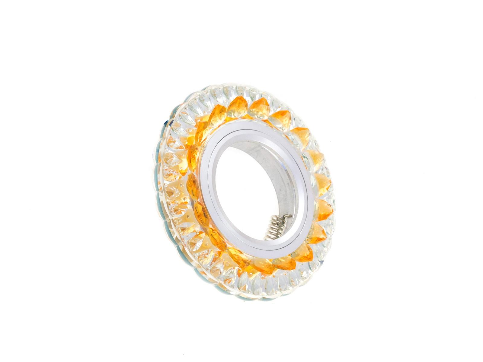 Встраиваемый светильник Luminarte PL09-DLL50GU5.3-3W, светло-коричневыйPL09-DLL50GU5.3-3WСветильник встраиваемый MR16 GU5.3 прозрачный/золото 22x100MM