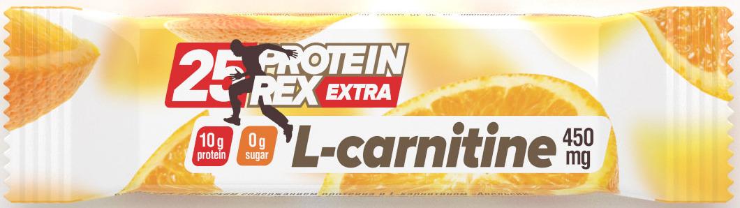 Протеиновый батончик Protein Rex Апельсин, 40 г протеиновый батончик protein rex клубничный пай 40 г