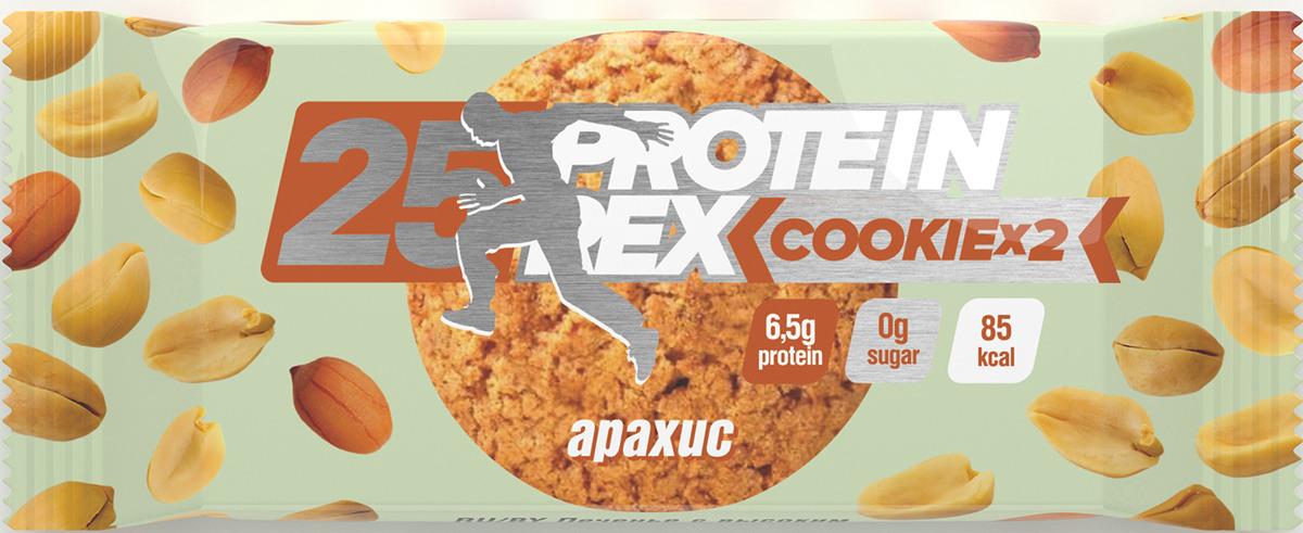 Фитнес питание Протеиновое печенье Protein Rex Арахис, 50 г pure protein протеин pure protein egg protein шоколадное печенье 600 г