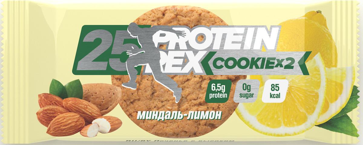 Фитнес питание Протеиновое печенье Protein Rex Миндаль-Лимон, 50 г pure protein протеин pure protein egg protein шоколадное печенье 600 г