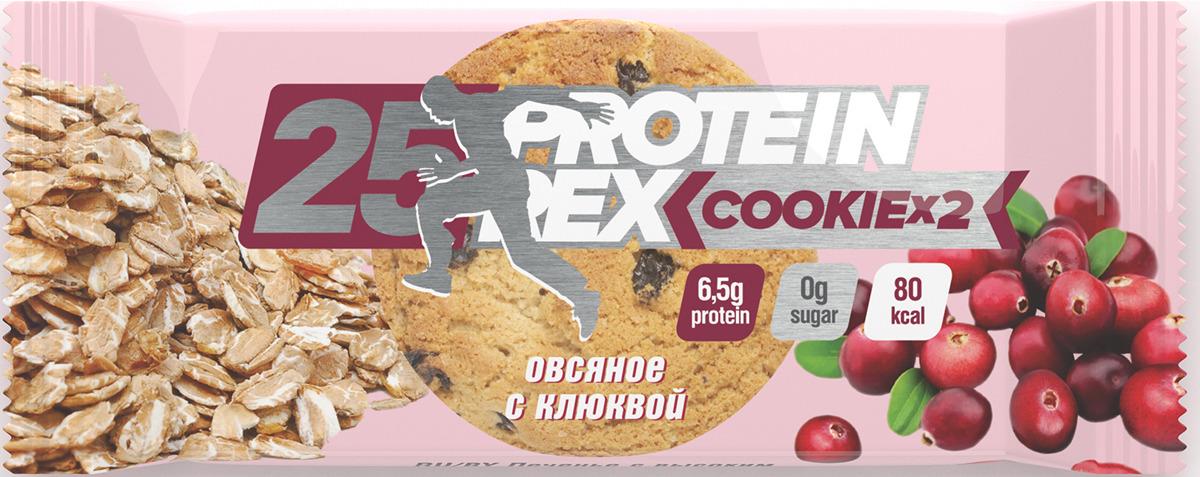 Фитнес питание Протеиновое печенье Protein Rex Овсяное с клюквой, 50 г pure protein протеин pure protein egg protein шоколадное печенье 600 г