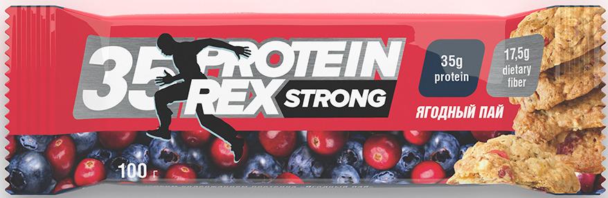 Протеиновый батончик Protein Rex Ягодный Пай, 100 г протеиновый батончик protein rex клубничный пай 40 г