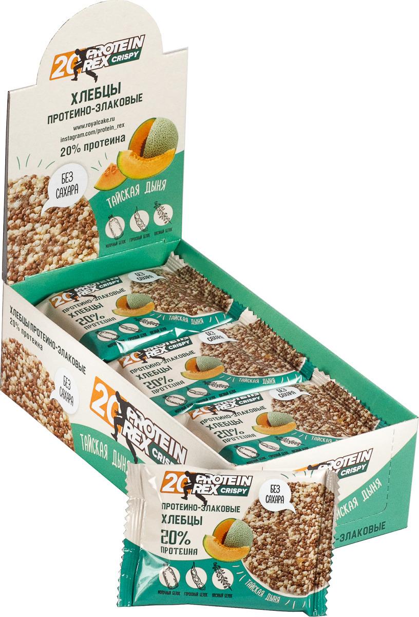 Фитнес питание Protein Rex Хлебцы протеино-злаковые Тайская дыня, 55 г х 12 шт