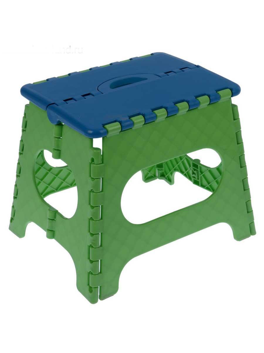 Табурет складной Трикап Табурет средний, синий, темно-зеленый