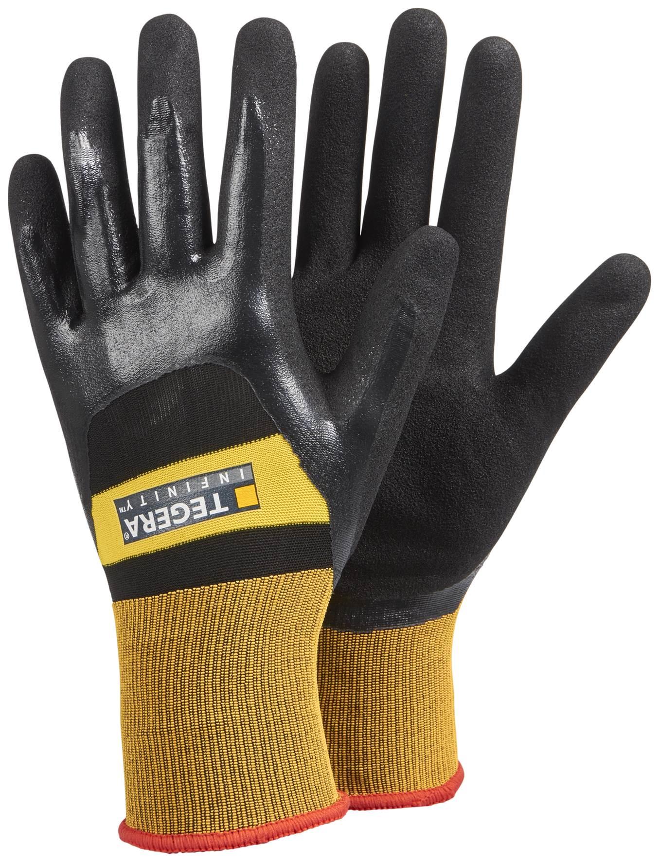 Перчатки защитные TEGERA 8803, черный перчатки рабочие кожа спандекс l