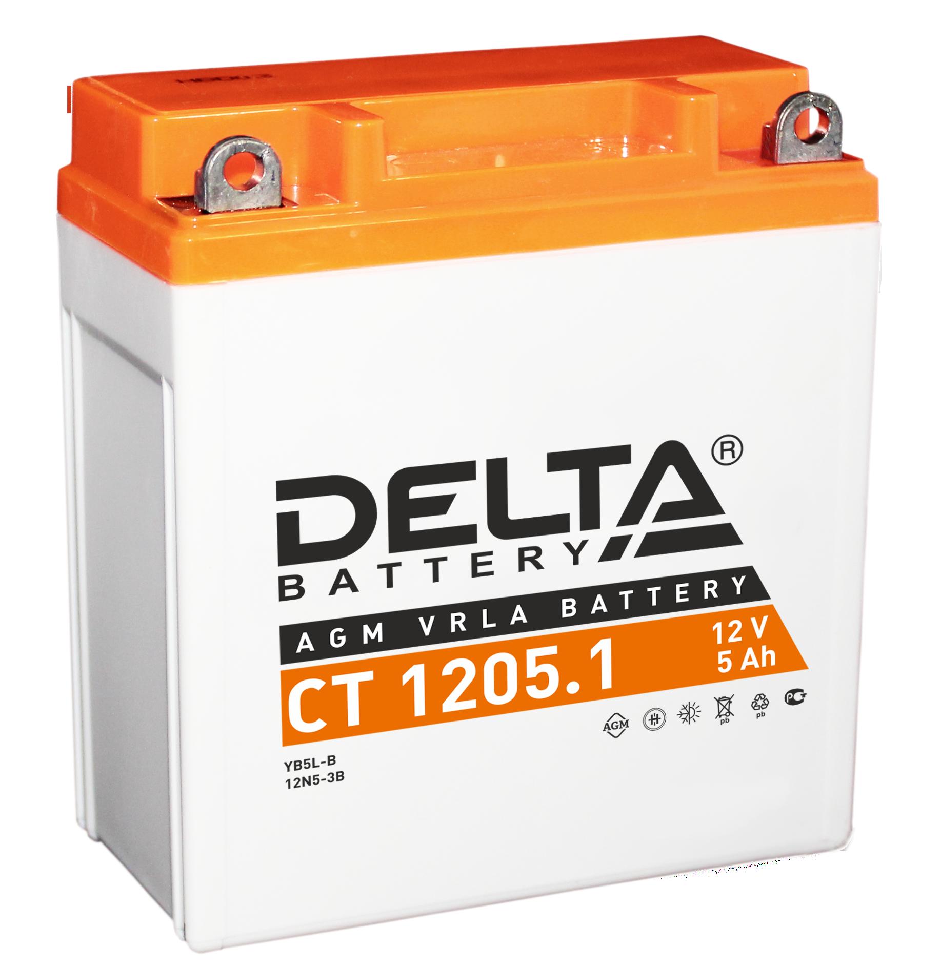 Аккумулятор автомобильный Delta CT 1205.1CT 1205.1свинцово-кислотные аккумуляторы DELTA CT (AGM) специально разработаны для мото-техники, использующей многократный мощный разряд. AGM , как и гелевые аккумуляторы, производятся по технилогии VRLA. Аккмуляторы DELTA не требуют обслуживания, не боятся вибрации, устойчивы к резким перепадам температуры и высокой влажности. Внутри аккумуляторов DELTA используется неподвижный электролит, увеличивающий срок службы аккумуляторов DELTA на 30%.