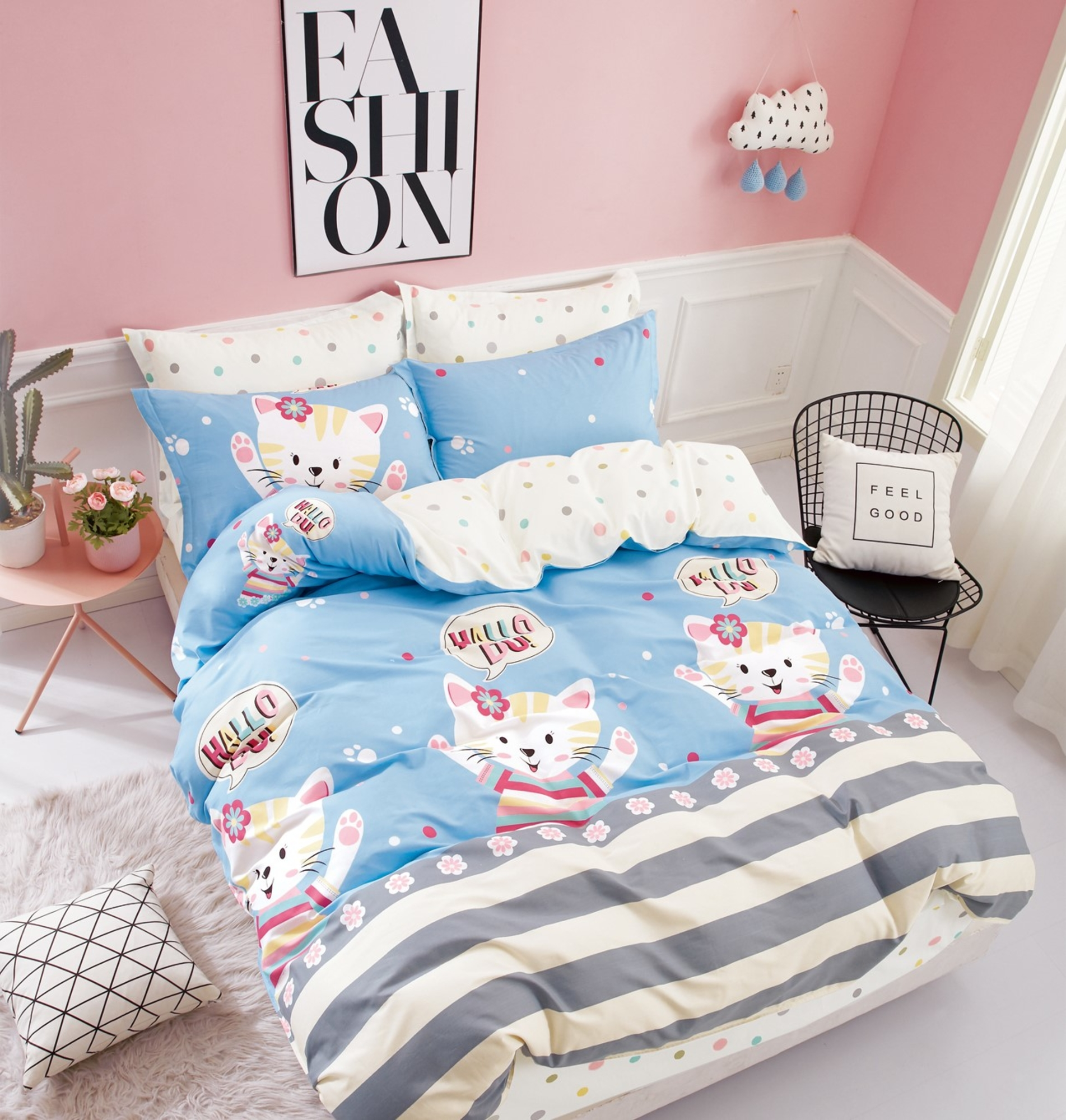 Комплект постельного белья Dream Time BLK-46-SP-407-1C постельное белье dream time blk 46 sp 337 1 2c 3 предмета