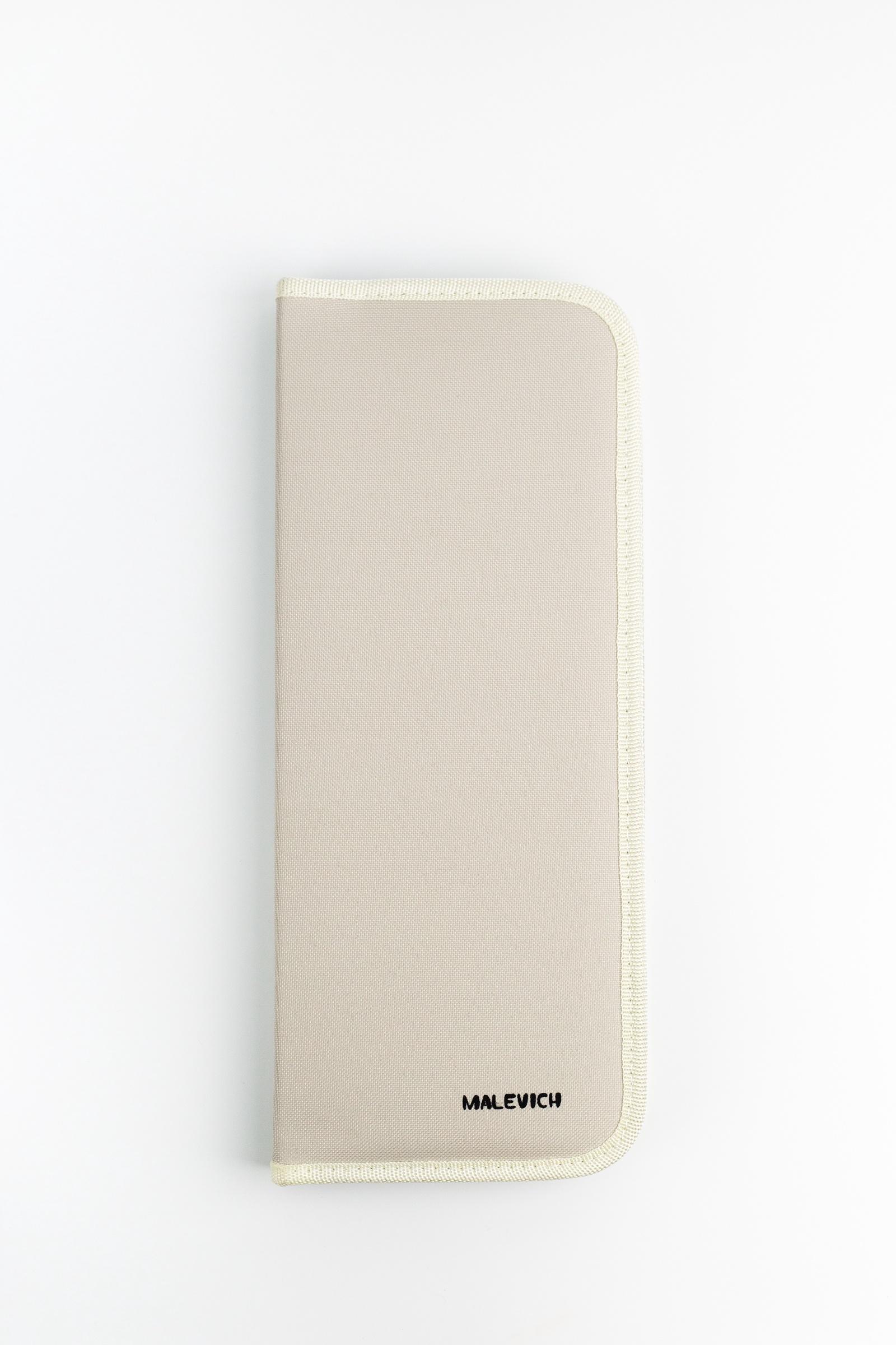 Пенал Малевичъ для кистей на длиной ручке 15,5х37 см, бежевый