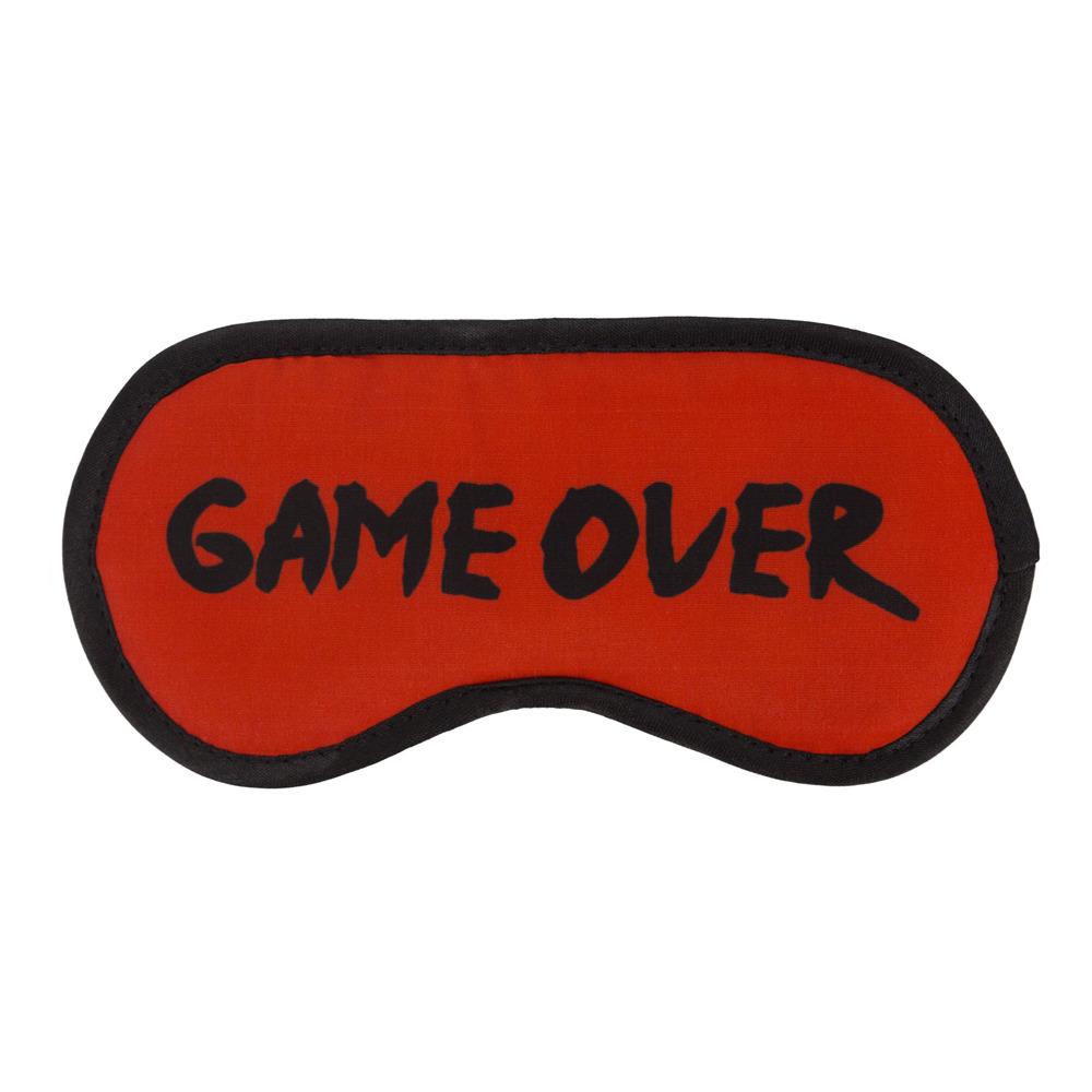 Маска для сна Kawaii Factory Game Over, KW086-001576, красный