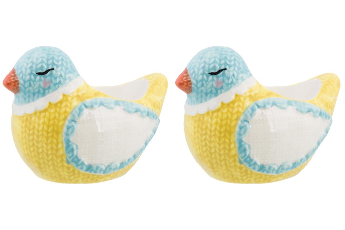 Подставка для яйца Elan Gallery Птичка, желтый, голубой, белый подставка под яйцо карамба котенок
