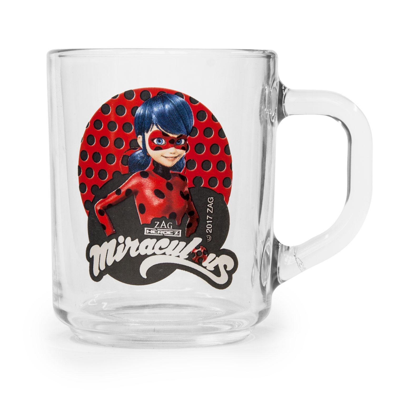 Кружка Леди Баг и Супер Кот Дизайн 2, прозрачный274075Кружка с изображением героев из популярного мультсериала - отличный подарок для вашего ребенка! Стеклянная кружка подходит для холодных и горячих напитков.