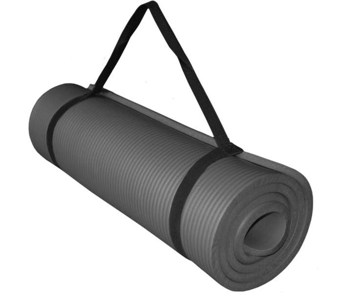 Коврик для йоги и фитнеса Hawk НБК 180х60х1,5 см (серый) HKEM124-1.5-GREY, серыйHKEM124-1.5-GREY 2HKEM124-1.5-GREY Коврик д/ йоги НБК 180х60х1,5 см (серый)
