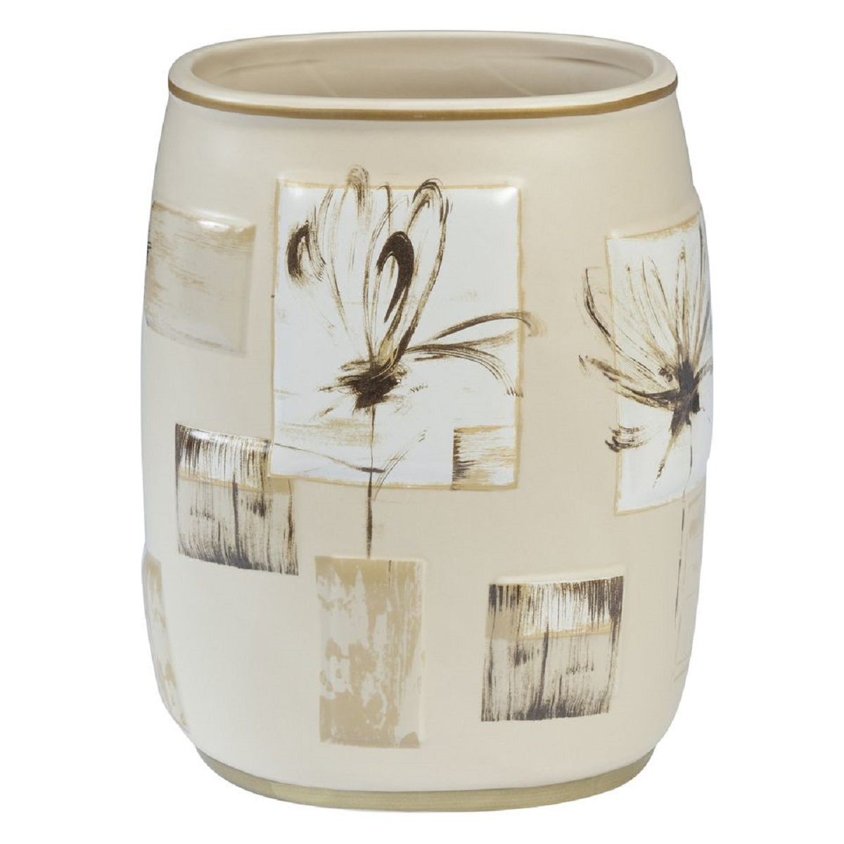 Мусорное ведро Creative Bath Botanical Collage, бежевый мыльница creative bath botanical dairy btl56mult