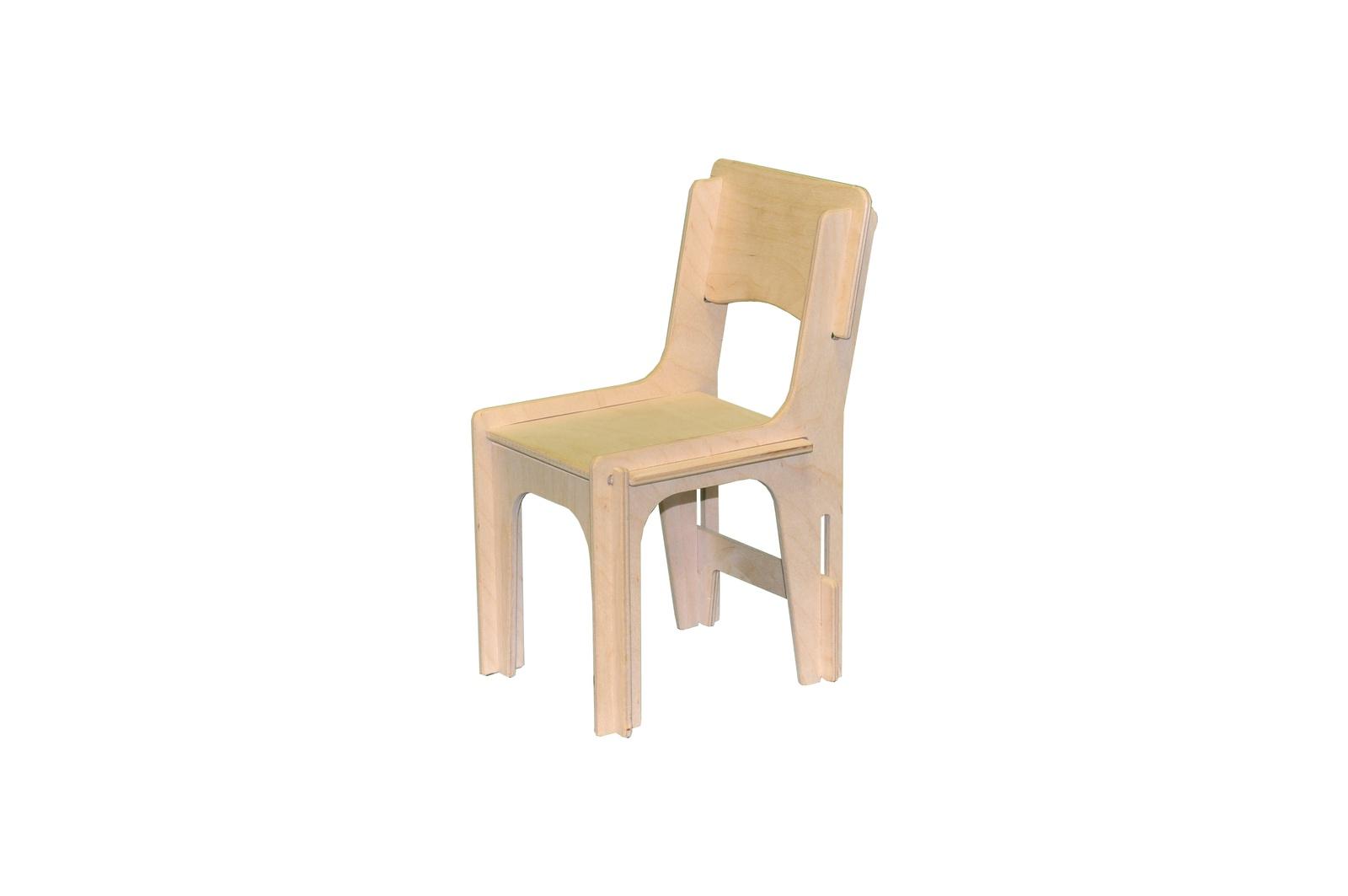 Мебель для кукол Woodlines Стул бежевый