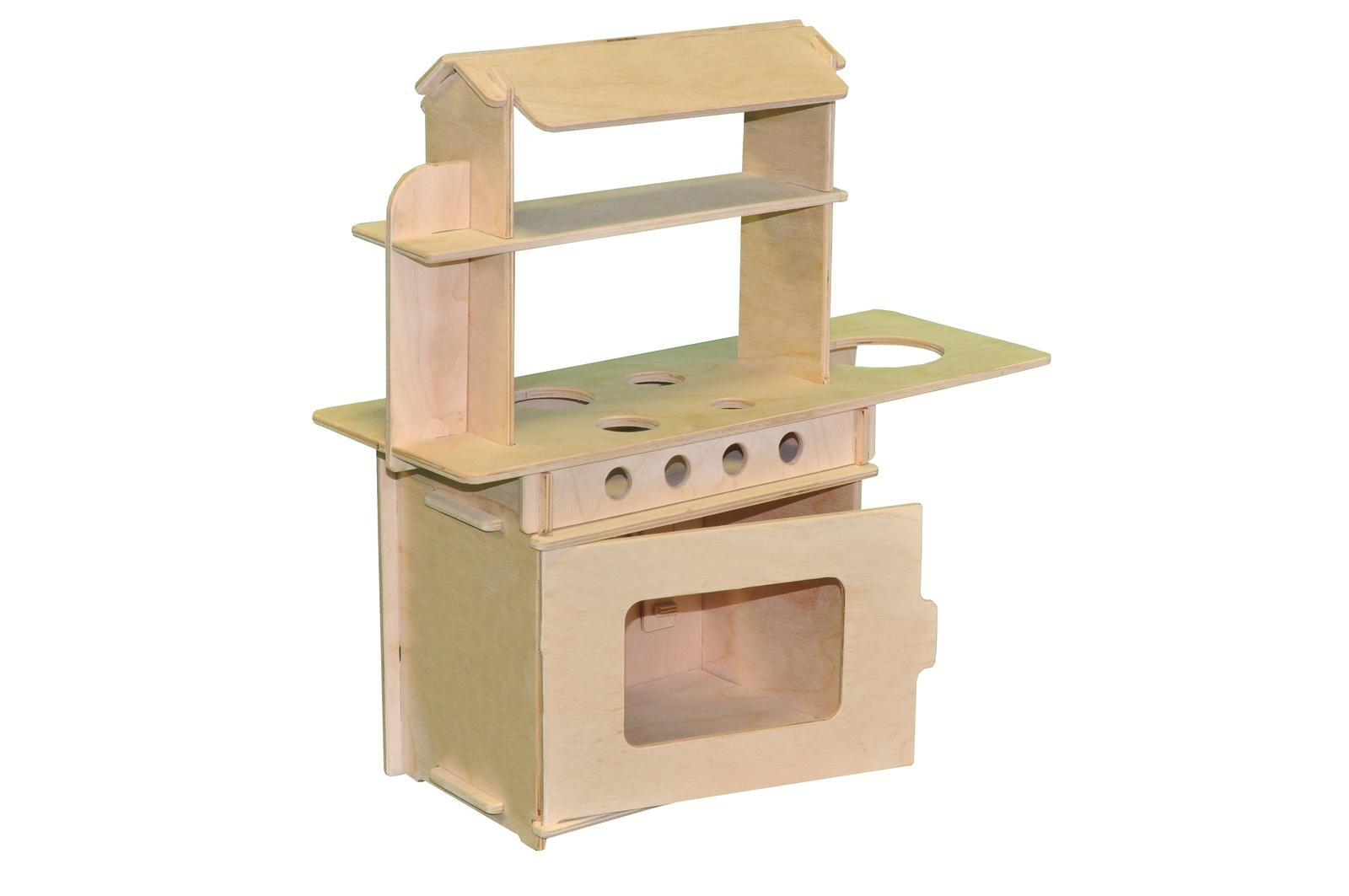 Мебель для кукол Woodlines Кухня бежевый