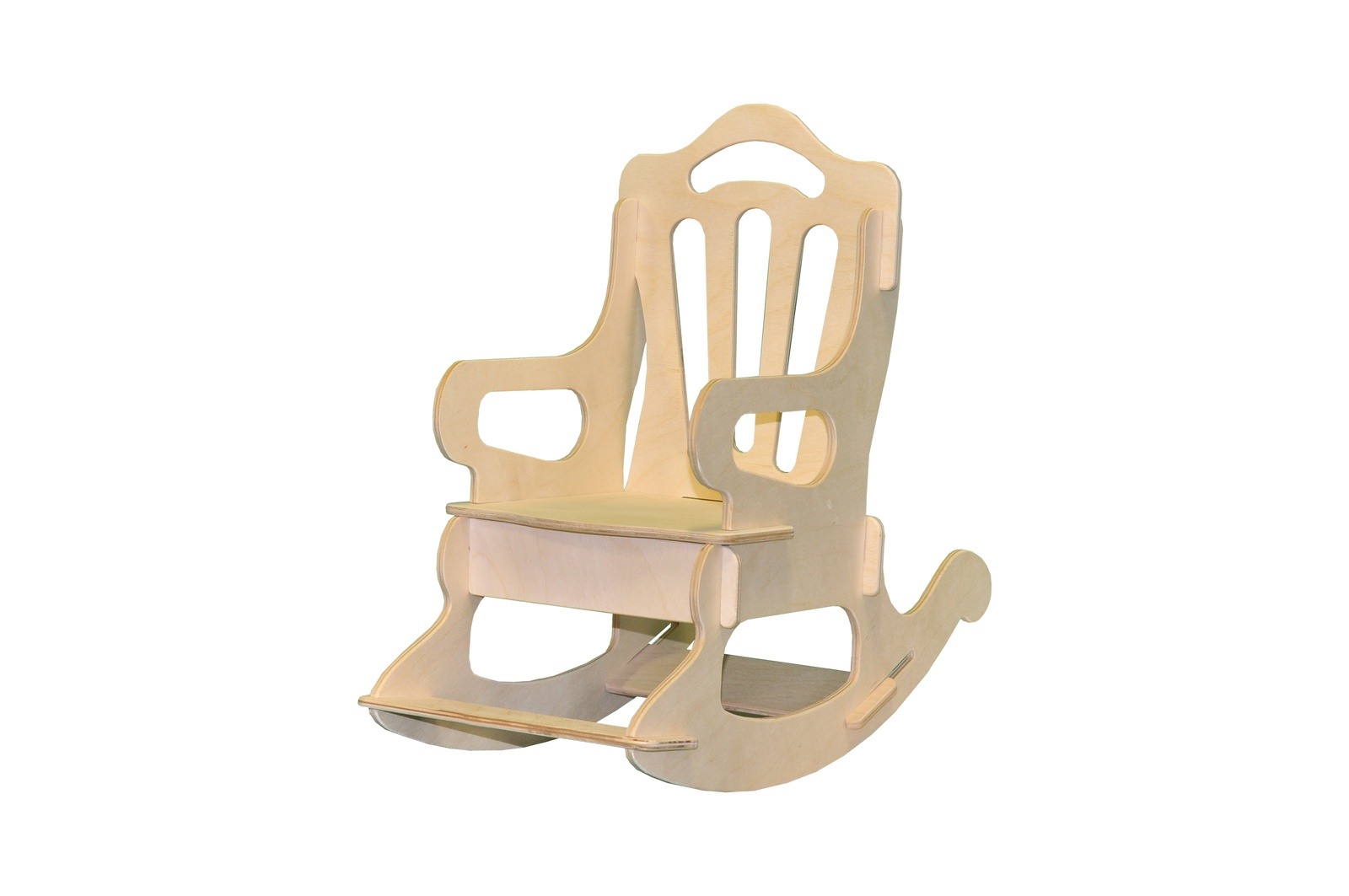 Мебель для кукол Woodlines Кресло-качалка бежевый