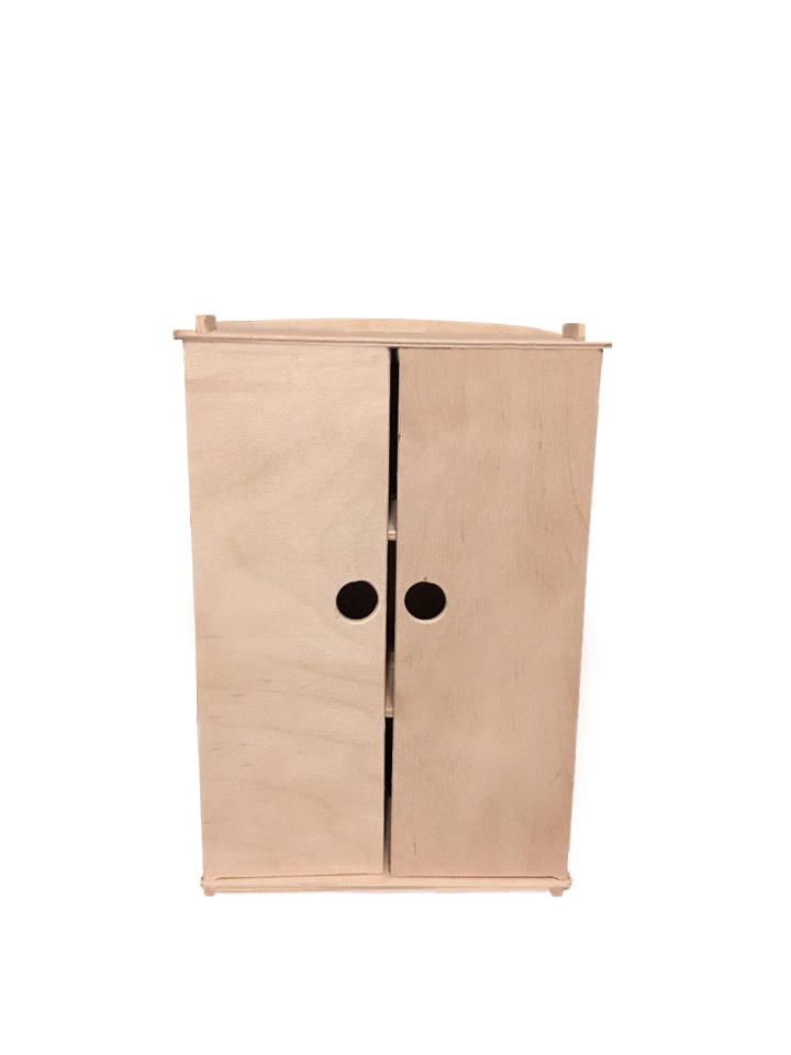 Мебель для кукол Woodlines Закрытый шкаф бежевый