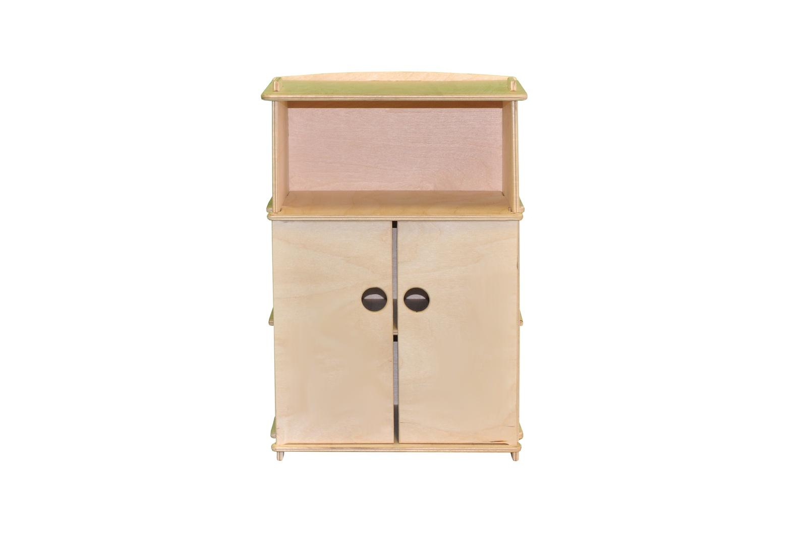 Мебель для кукол Woodlines Шкаф с открытой полкой бежевый