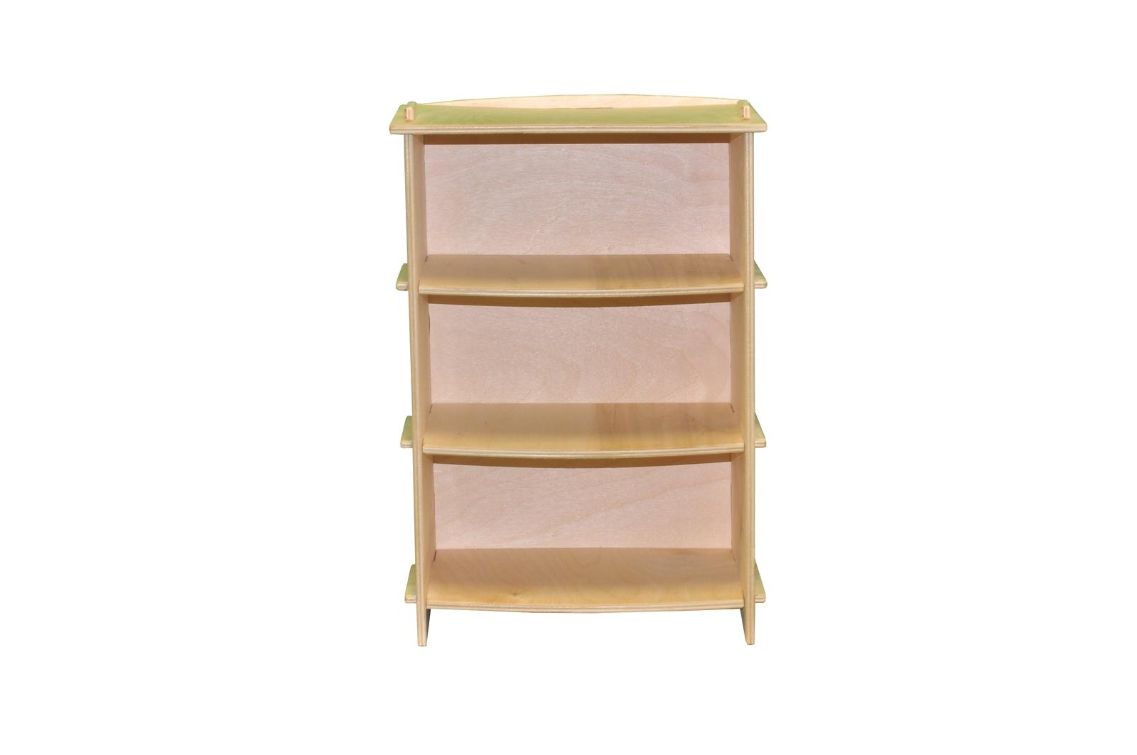 Мебель для кукол Woodlines Шкаф Этажерка бежевый