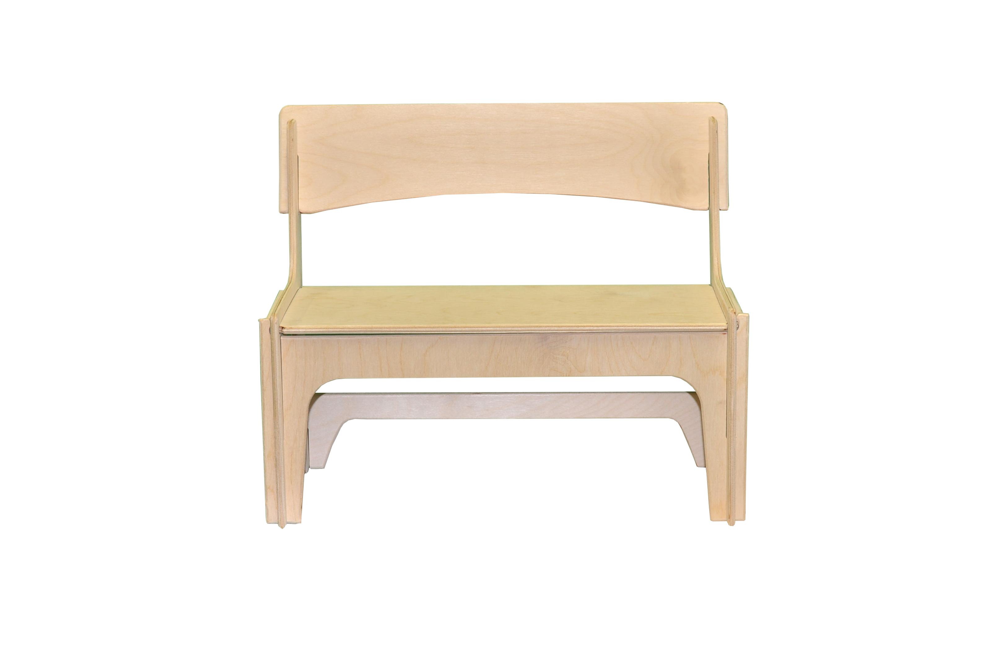 Мебель для кукол Woodlines Скамейка бежевый