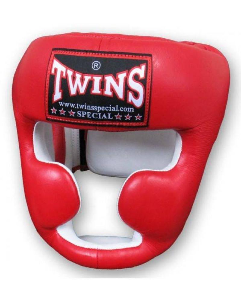 Шлем боксерский TWINS HGL-6-red-L, красный цена