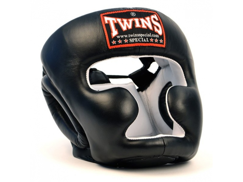 Шлем боксерский TWINS HGL-6-black-L, черный цена