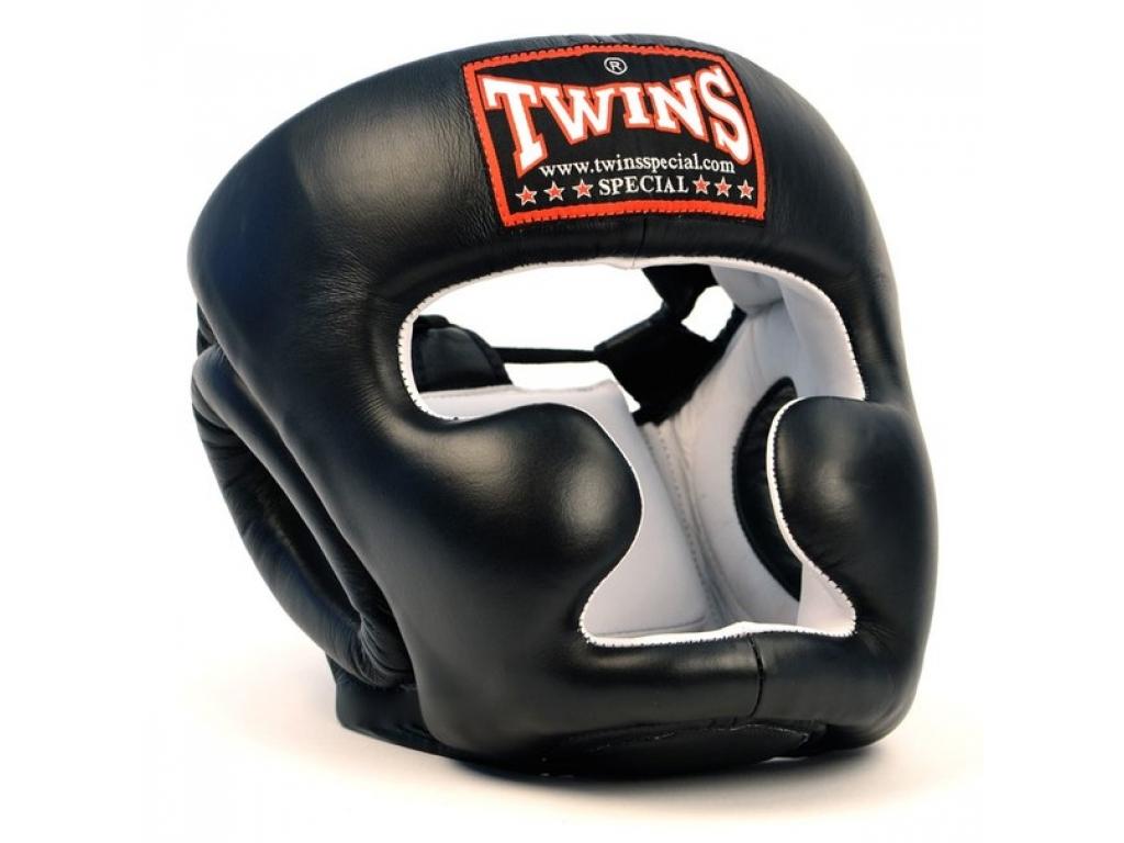 Шлем боксерский TWINS HGL-6-black-M, черный цена